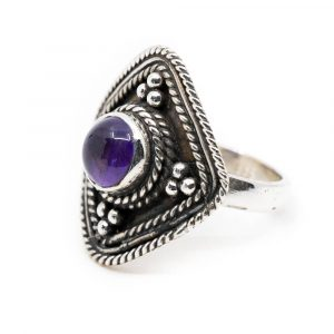 "Edelstein-Ring Amethyst 925 Silber ""Yirsa"" (Größe 17)"