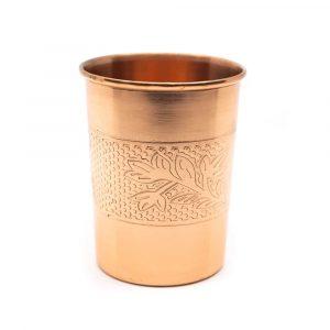 Kupferbecher Dekoration geätzt (350 ml)