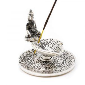 Traditioneller Weihrauchbrenner mit Buddha Silber