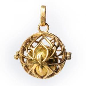 Lotus Schwangerschaft-Anhänger goldfarben (2,5 cm)