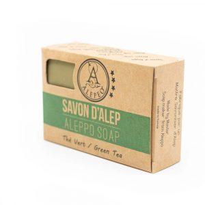 Aleppo-Seife Grüner Tee - 8% Lorbeeröl - 100 Gramm