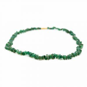 Edelstein-Splitkette Grüne Jade (45 cm)