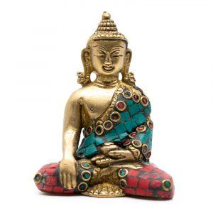 Buddha-Bild Shakyamuni mit Mosaik-Dekoration (7 cm)