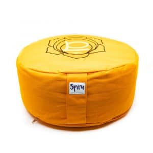 Spiru-Meditationskissen Baumwolle Orange - 2. Chakra Swadhishthana - 36 x 15 cm