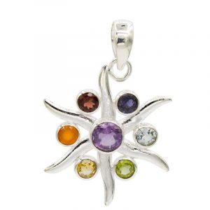 Chakraanhänger Strahlender Stern Silber