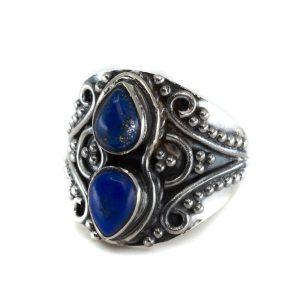 "Edelstein-Ring Lapislazuli 925 Silber ""Vizrea"" (Größe 17)"