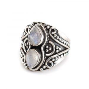 """Edelstein-Ring Mondstein 925 Silber """"Yoza"""" (Größe 17)"""