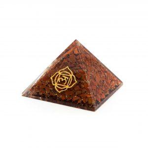 Orgonit-Pyramide - Grundchakra - Roter Jaspis (70 mm)