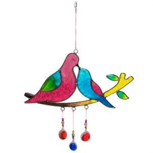 Fensterdekoration Küssende Vögel auf Ast