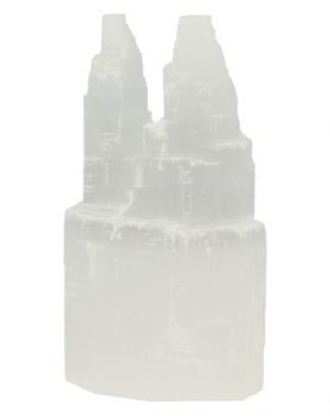 Edelstein Selenit Doppelturm (10 x 6 x 4 cm)