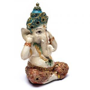 Ganesha Statue Hören (15 x 10 x 21 cm)