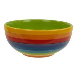 Regenbogenfarbene Schale aus Keramik (13 cm)