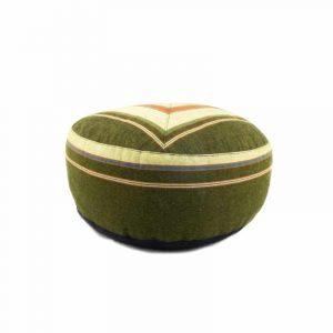 Meditationskissen grün/dunkelgrün gemustert (33 x 17 cm)