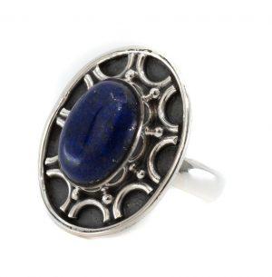 "Edelstein-Ring Lapislazuli 925 Silber ""Dissada"" (Größe 17)"