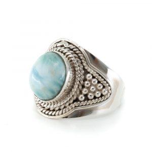 """Edelstein-Ring Larimar 925 Silber """"Jehna"""" (Größe 17)"""