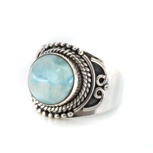 """Edelstein-Ring Larimar 925 Silber """"Jesahna"""" (Größe 17)"""