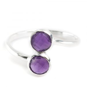 Geburtsstein Ring Amethyst Februar - 925 Silber