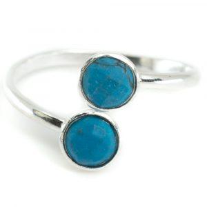 Geburtsstein Ring Türkis Dezember - 925 Silber