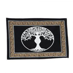 Altarteppich aus Baumwolle mit Götterbaum (46 x 30 cm)