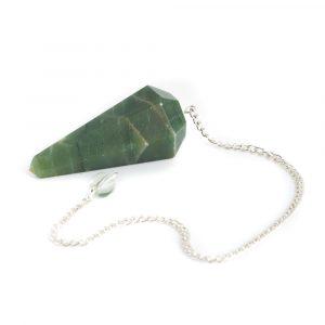Pendel Edelstein Grüne Jade Facette