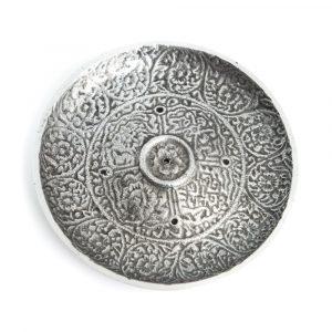 Silberfarbener Räucherstäbchenbrenner aus Messing (110 mm)
