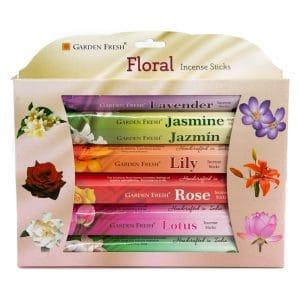Garden Fresh - Blumen-Weihrauch-Geschenk-Set (6 Pakete)