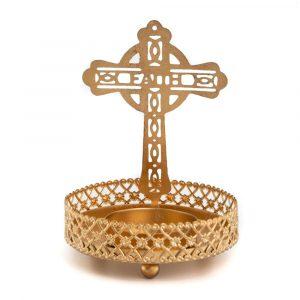 Teelichthalter Kreuz (10 cm)