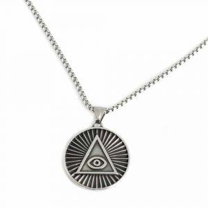 Amulett Allsehendes Böses Auge Pyramide Silber (35 mm)