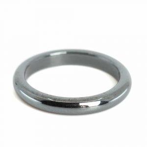 Edelstein Ring Hämatit (3 mm - Größe 15)