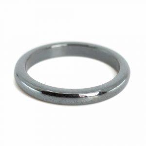 Edelstein Ring Hämatit (3 mm - Größe 19)