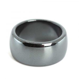 Edelstein Ring Hämatit (10 mm - Größe 17)
