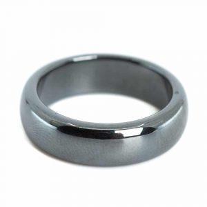 Edelstein Ring Hämatit (6 mm - Größe 17)
