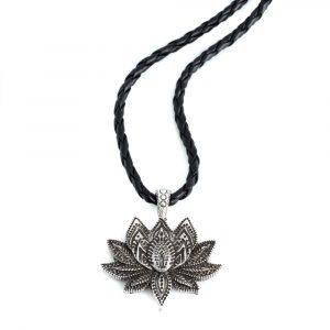 Anhänger Lotus Silber mit Kette