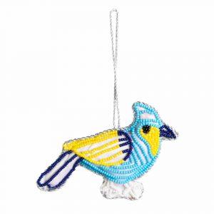 Anhänger Ornament Traditioneller Blauer Vogel (13 cm)