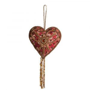 Anhänger Ornament Traditionell Herz (25 cm)