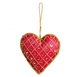 Anhänger Ornament Traditionelles Herz Alternative Rot (17 cm)