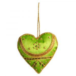 Anhänger Ornament Traditionelles Herz Grün (16 cm)