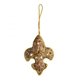 Anhänger Ornament Traditionelle Fleur de Lis Gelb (18 cm)