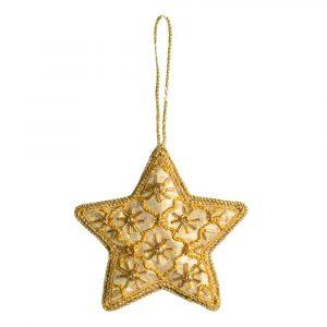 Anhänger Ornament Traditioneller Stern Gelb (17 cm)