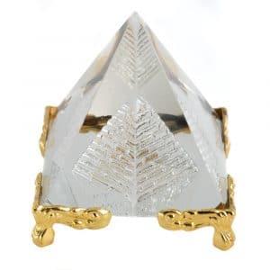 Kristall-Piramide Feng Shui mit Füßen (5 cm)