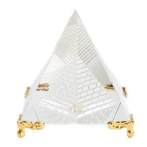 Kristall-Piramide Feng Shui mit Füßen (8 cm)