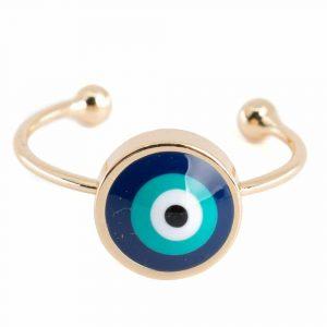 Verstellbarer Ring Böser Blick (10 mm)
