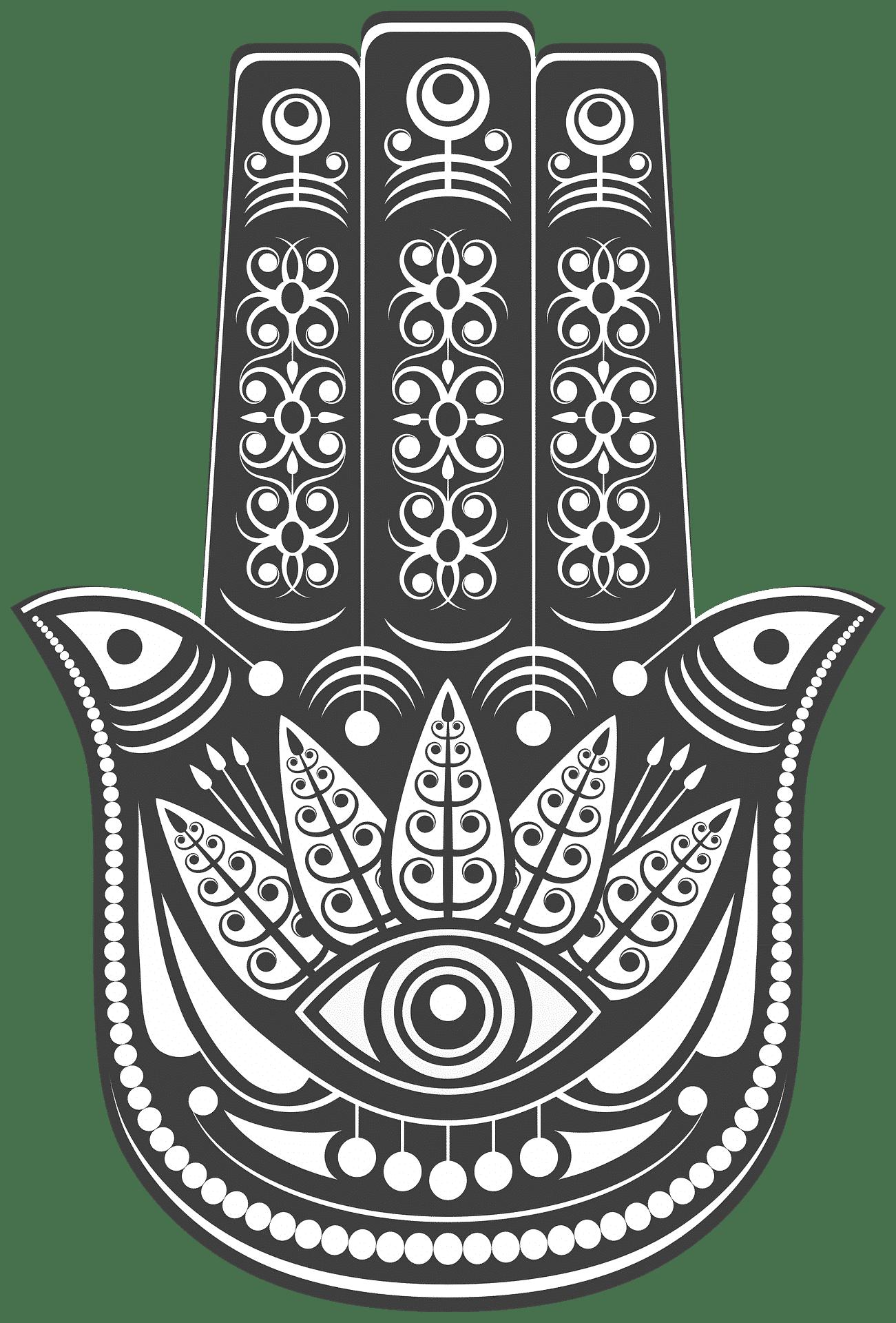 hamsa hand illustration fatima evil eye