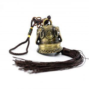 Feng Shui Glocken-Anhänger mit Ganesha (32 cm)