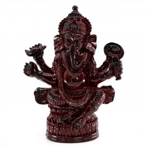 Ganesha Statue Dunkelrot (12 cm)