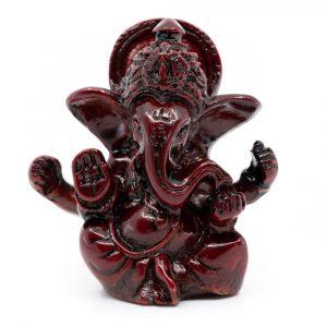 Ganesha Statue Dunkelrot (6 cm)