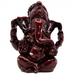 Ganesha Statue Dunkelrot (9 cm)