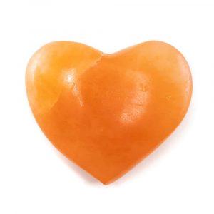 Herz Handschmeichler Selenit Orange 50 mm