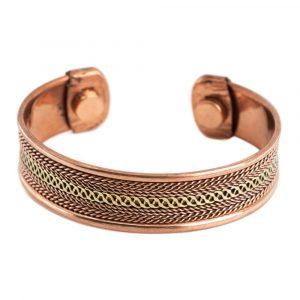 "Kupfer Magnet Armband ""Grid Alternative"""