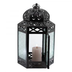 Orientalische Laterne Kerzenlicht Floral (30 cm)